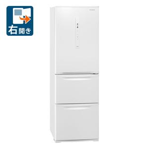 (標準設置料込)NR-C371N-W パナソニック 365L 3ドア冷蔵庫(ピュアホワイト)【右開き】 Panasonic Nタイプ [NRC371NW]