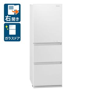 NR-C341GC-W パナソニック 335L 3ドア冷蔵庫(スノーホワイト)【右開き】 Panasonic GCタイプ [NRC341GCW]