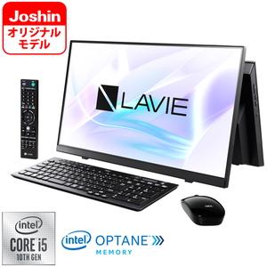 PC-HA570RAB-J NEC LAVIE Home All-in-one HA570/RAB-J ファインホワイト - 23.8型デスクトップパソコン【Joshinオリジナル】 [Core i5 / メモリ 8GB / HDD 3TB+Optaneメモリ / BDドライブ / TV機能 / Microsoft Office 2019]