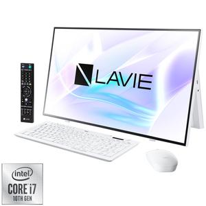 PC-HA970RAW NEC LAVIE Home All-in-one HA970/RAW ファインホワイト - 27型デスクトップパソコン [Core i7 / メモリ 8GB / SSD 256GB+HDD 3TB / BDドライブ / TV機能 / Microsoft Office 2019]