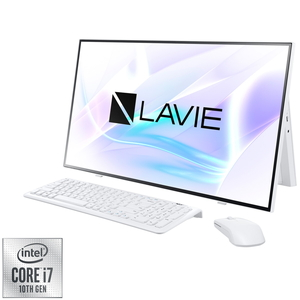 PC-HA700RAW NEC LAVIE Home All-in-one HA700/RAW ファインホワイト - 27型デスクトップパソコン [Core i7 / メモリ 8GB / SSD 512GB / DVDドライブ / Microsoft Office 2019]