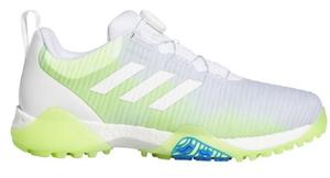 AD20SS-FV2521-245 アディダス メンズ・スパイクレス・ゴルフシューズ(ホワイト/シグナルグリーン/グローリーブルー・24.5cm) adidas コードカオス ボア ロウ