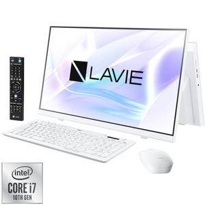 PC-HA770RAW NEC LAVIE Home All-in-one HA770/RAW ファインホワイト - 23.8型デスクトップパソコン [Core i7 / メモリ 8GB / SSD 256GB+HDD 3TB / BDドライブ / TV機能 / Microsoft Office 2019]
