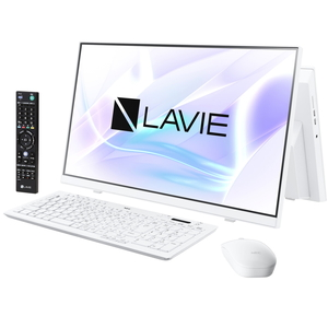 PC-HA370RAW NEC LAVIE Home All-in-one HA370/RAW ファインホワイト - 23.8型デスクトップパソコン [Celeron / メモリ 8GB / HDD 1TB / DVDドライブ / TV機能 / Microsoft Office 2019]