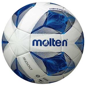 F5A5000 モルテン サッカーボール 5号球 (人工皮革) Molten ヴァンタッジオ5000(ホワイト×ブルー)