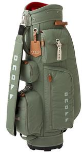 OB072000 オノフ レディース キャディバッグ(カーキ・8.5型・46インチクラブ対応) ONOFF Caddie Bag