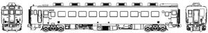 [鉄道模型]トラムウェイ (HO) TW-58iiT 国鉄キハ58パノラミックウインドウ冷房車Mなし