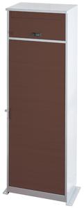 THB-2128(BR) ケイ・ジー・ワイ工業 宅配ボックス リシム ロング 鍵付(上段郵便ポスト/下段宅配ボックス) (ブラウン) KGY [THB2128BR]