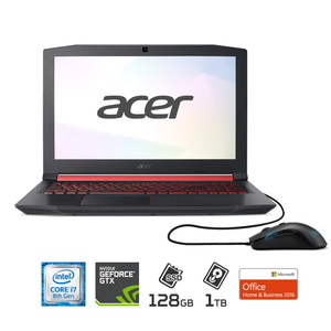AN515-52-JF78H/FM Acer(エイサー) 15.6型ノートパソコン Nitro 5(ゲーミング・クリエイターモデル) Core i7 / メモリ 8GB / SSD 128GB+HDD 1TB / GeForce GTX 1050TiMicrosoft Office 2016