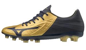 P1GA206414245 ミズノ サッカー スパイク(ゴールド×ネイビー・24.5cm) MIZUNO レビュラ3 PRO ユニセックス