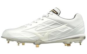 11GM191501285 ミズノ 野球スパイク(ホワイト×ホワイト・サイズ:28.5cm) mizuno GEトライブ QS ユニセックス