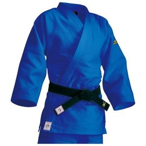 22JM5A15272Y ミズノ メンズ 柔道衣(新規格)上衣のみ(ブルー・サイズ:Y体・2Y号) 全柔連・IJF新規格基準モデル