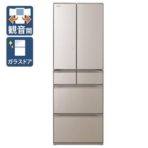 (標準設置料込)R-HW52N-XN 日立 520L 6ドア冷蔵庫(クリスタルシャンパン) HITACHI HWシリーズ [RHW52NXN]