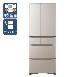 (標準設置料込)R-X51N-XN 日立 505L 6ドア冷蔵庫(クリスタルシャンパン) HITACHI Xタイプ [RX51NXN]
