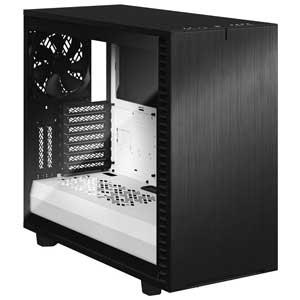 FD-C-DEF7A-05 Fractal Design E-ATX、ATX、microATX、Mini-ITX対応 ミドルタワーPCケース(ブラック/ホワイト)【強化ガラス(クリア)】 Define 7 Black/White TG Clear Tint