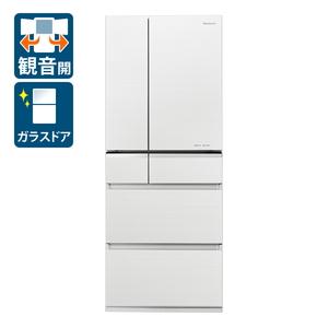 (標準設置料込)NR-F476XPV-W パナソニック 470L 6ドア冷蔵庫(マチュアホワイト) Panasonic XPVタイプ [NRF476XPVW]