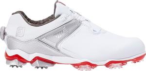 55411W26 フットジョイ メンズ・ゴルフシューズ (ホワイト×レッド・サイズ:26.0cm) footjoy ツアー X BOA