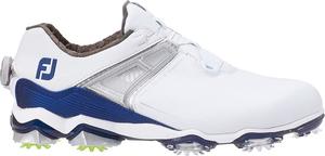 55412W25 フットジョイ メンズ・ゴルフシューズ (ホワイト×ネイビー・サイズ:25.0cm) footjoy ツアー X BOA