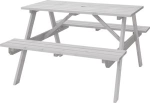 ODS-92WH 東谷 テーブル&ベンチ W120 (ホワイト)