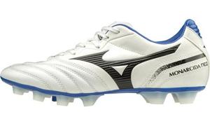 P1GA202409255 ミズノ サッカー スパイク(ホワイト×ブラック×ブルー・サイズ:25.5cm) MIZUNO モナルシーダ NEO SW ユニセックス