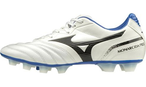 P1GA202409275 ミズノ サッカー スパイク(ホワイト×ブラック×ブルー・サイズ:27.5cm) MIZUNO モナルシーダ NEO SW ユニセックス