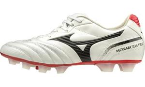 P1GA202709240 ミズノ サッカー スパイク(ホワイト×ブラック×レッド・サイズ:24.0cm) MIZUNO モナルシーダ NEO SW KL ユニセックス