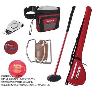 HAC-BH1454-62 ハタチ グラウンドゴルフ 7点セット(レッド) HATACHI GG応援セット