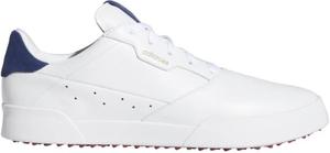 AD20SS-EE9164-255 アディダス メンズ・スパイクレス・ゴルフシューズ(ホワイト/シルバーメタリック/テックインディゴ・25.5cm) adidas アディクロス レトロ