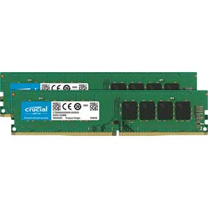 CT2K16G4DFD8266_2003 Crucial PC4-21300 (DDR4-2666)288pin DDR4 UDIMM 32GB(16GB×2枚)