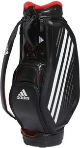 AD20SS-GUW08-BKRD アディダス キャディバッグ(ブラック/ソーラーレッド・9.5型・47インチクラブ対応) adidas ツアー モールドデザイン バッグ