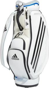 AD20SS-GUW08-WHBL アディダス キャディバッグ(ホワイト/グローリーブルー・9.5型・47インチクラブ対応) adidas ツアー モールドデザイン バッグ