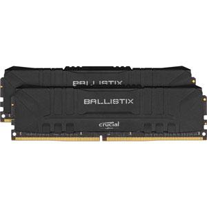 BL2K32G32C16U4B Crucial PC4-25600 (DDR4-3200)288pin UDIMM 64GB(32GB×2枚)【ブラック】 Ballistix Black