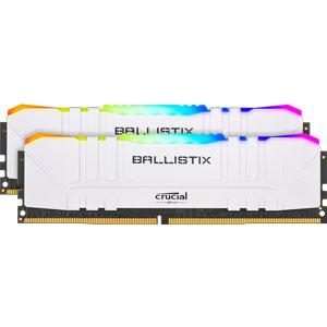 BL2K8G32C16U4WL Crucial PC4-25600 (DDR4-3200)288pin UDIMM 16GB(8GB×2枚)【ホワイト】 Ballistix White RGB