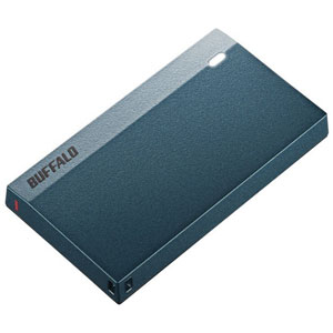 SSD-PSM960U3-MB バッファロー USB3.2(Gen1)対応 外付けポータブルSSD 960GB【モスブルー】