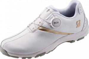 SHG010-WG-245 ブリヂストンゴルフ レディース・スパイクレス・ゴルフシューズ(白/ゴールド・24.5cm) BRIDGESTONE GOLF ゼロ・スパイク バイター ライト レディ