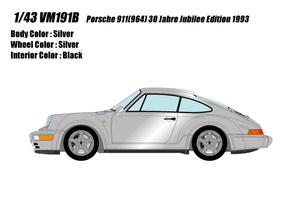 1/43 ポルシェ 911(964) 30周年記念車 (30 Jahre Jubilee Edition) 1993(シルバー)【VM191B】 メイクアップ