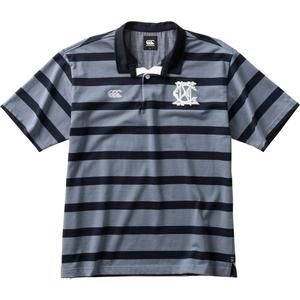 CCC-RA3011517-XL カンタベリー メンズ ショートスリーブ ラガーシャツ(チャコールグレー・サイズ:XL) CANTERBURY S/S RUGGER SHIRT