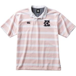 CCC-RA3011563-M カンタベリー メンズ ショートスリーブ ラガーシャツ(ピンク・サイズ:M) CANTERBURY S/S RUGGER SHIRT