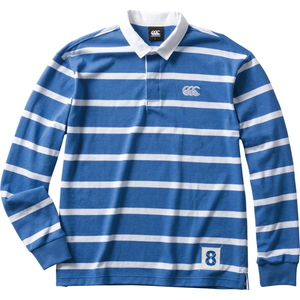 CCC-RA4007125-S カンタベリー メンズ ロングスリーブ ラガーシャツ(ロイヤルブルー・サイズ:S) CANTERBURY L/S RUGGER SHIRT
