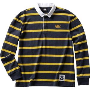 CCC-RA4007129-L カンタベリー メンズ ロングスリーブ ラガーシャツ(ネイビー・サイズ:L) CANTERBURY L/S RUGGER SHIRT