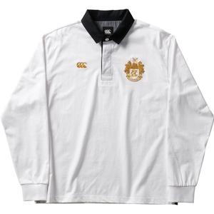 CCC-RA4007210-S カンタベリー メンズ ロングスリーブ ラガーシャツ(ホワイト・サイズ:S) CANTERBURY L/S RUGGER SHIRT