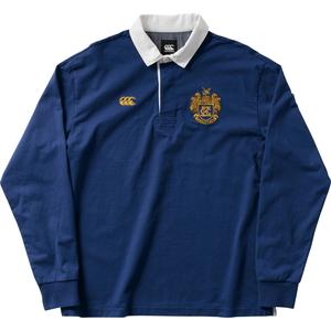 CCC-RA4007227-L カンタベリー メンズ ロングスリーブ ラガーシャツ(リバーブルー・サイズ:L) CANTERBURY L/S RUGGER SHIRT
