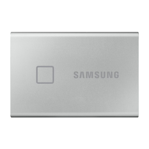 MU-PC1T0S/IT サムスン USB3.2 Gen.2対応 ポータブルSSD 1.0TB(シルバー)【指紋認証機能】 Portable SSD T7 Touchシリーズ