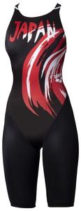 DS-ARN0040W-JPN-SS アリーナ 女性用競泳水着(【JPN】ブラック・SSサイズ) arena 【FINA承認】 ハーフスパッツ(クロスバック)20SS エックスパイソン2