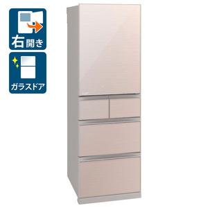 (標準設置料込)MR-B46F-F 三菱 455L 5ドア冷蔵庫 【右開き】(クリスタルフローラル) MITSUBISHI Bシリーズ [MRB46FF]
