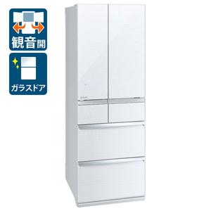 (標準設置料込)MR-WX52F-W 三菱 517L 6ドア冷蔵庫(クリスタルホワイト) MITSUBISHI WXシリーズ [MRWX52FW]