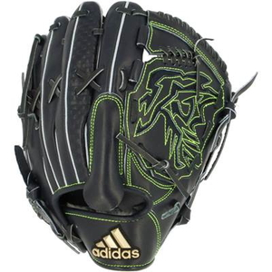 ADJ-INT76-FR3632-RH アディダス 軟式野球用グラブ 投手用(ブラック/ゴールドメタリック・左投用) adidas