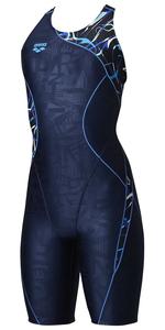 DS-LAR0207W-BLU-O アリーナ 女性用フィットネス水着(ブルー・Oサイズ) arena サークルバックスパッツ(20SS)