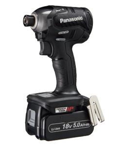 EZ76A1LJ2G-B パナソニック 14.4V/18V 充電インパクトドライバー 黒 (18V5.0Ah電池パック×2個セット) Panasonic