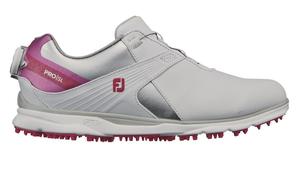 98129W23 フットジョイ レディース・スパイクレス・ゴルフシューズ(ホワイト×ピンク・サイズ:23.0cm) footjoy ウィメンズ FJ PRO/SL ボア